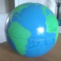 Annie Adair's hand-painted globe