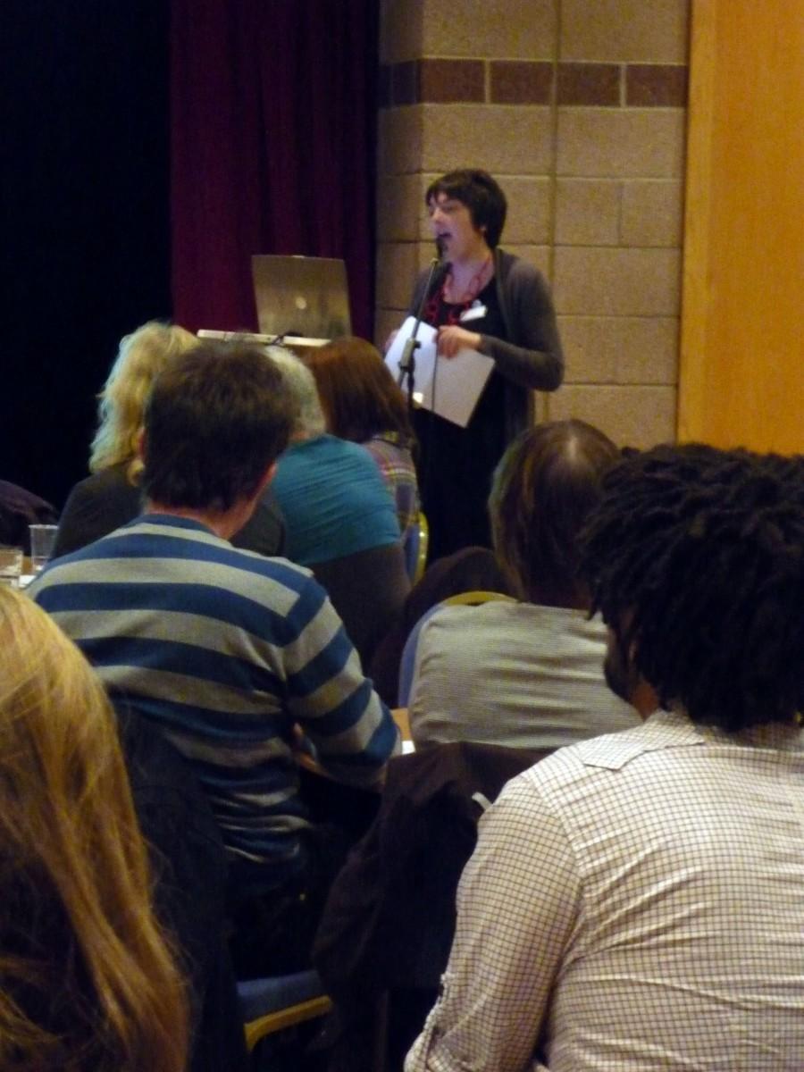 Carol Sinclair talking at Fife Contemporary's Artists' Forum 2010