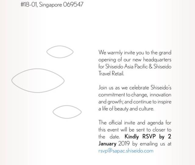 Grand Opening Of Shiseido Asia Pacific And Travel Retail Hq
