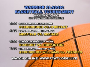 Warrior Classic Schedule (DAY 2)