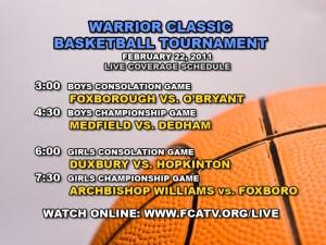 Warrior Classic Schedule (DAY 2)