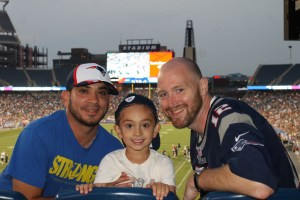 Patriots Fans Enjoy Free Night of Football Under the Lights at Gillette Stadium