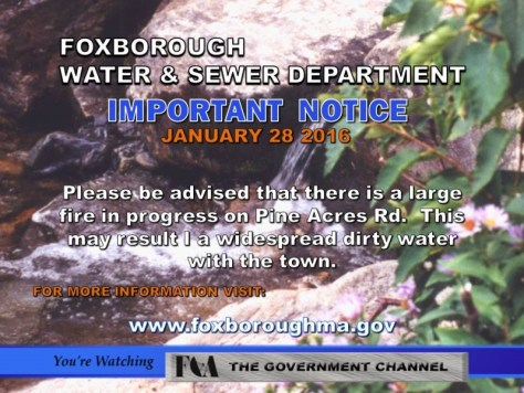 Water Dept Notice 1/28/16