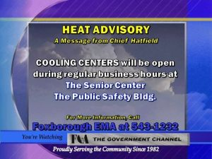 Heat Advisory - Cooling Centers Available