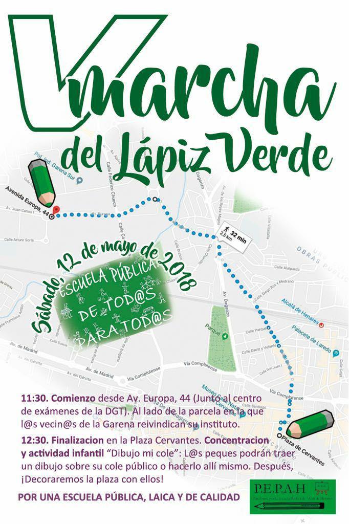 Defendamos la Educación Pública - V Marcha del Lápiz en Alcalá