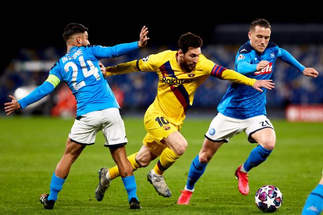 The Champions League and FC Barcelona v Napoli postponed announces ...