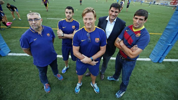 Staff del FC Barcelona, amb Stacy Duvenage -Fotografies Miguel Ruíz