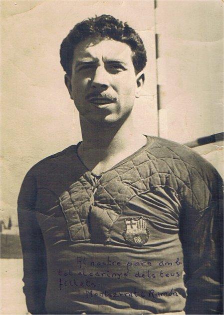 Ramón Rabasa amb la samarreta blaugrana