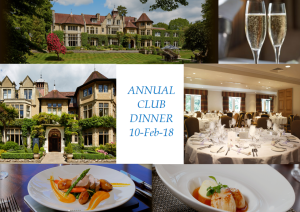 Annual Dinner 10 Feb Menu Choices – Book Now