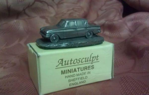 Miniature pewter car model