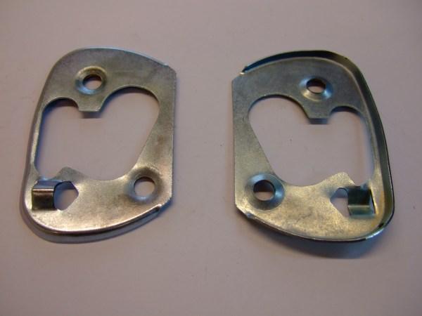 Handbrake lever dust cover metal backplate
