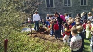 First Church Preschool tree planting 4