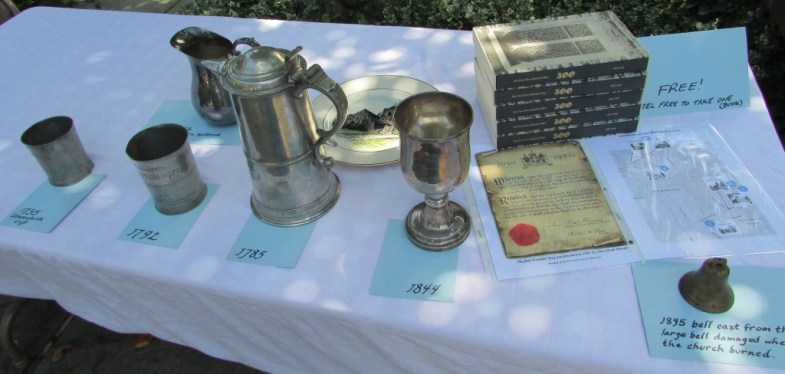 Historical Items Founders Day Display 2015