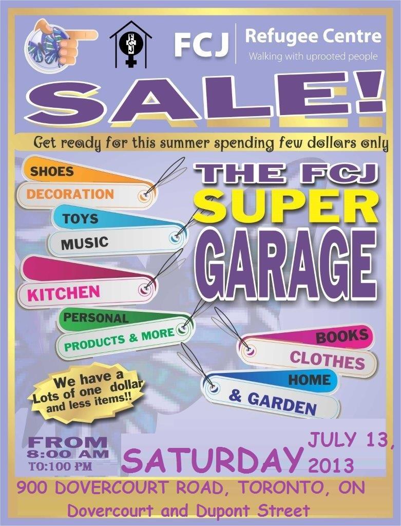 Garage sale FCJ July 13