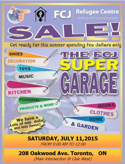 garage  sale July 11
