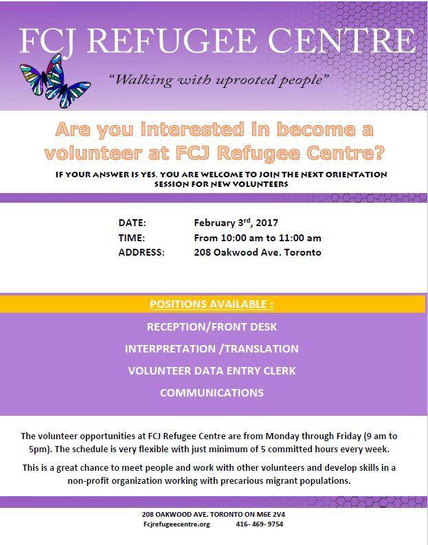 Volunteer session Febr 3