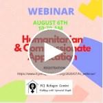 Webinar | Humanitarian and Compassionate Application