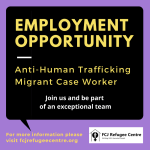 Employment Opportunity: Anti-Human Trafficking Migrant Case Worker