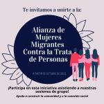 Únete a la Alianza de Mujeres Migrantes Contra la Trata de Personas
