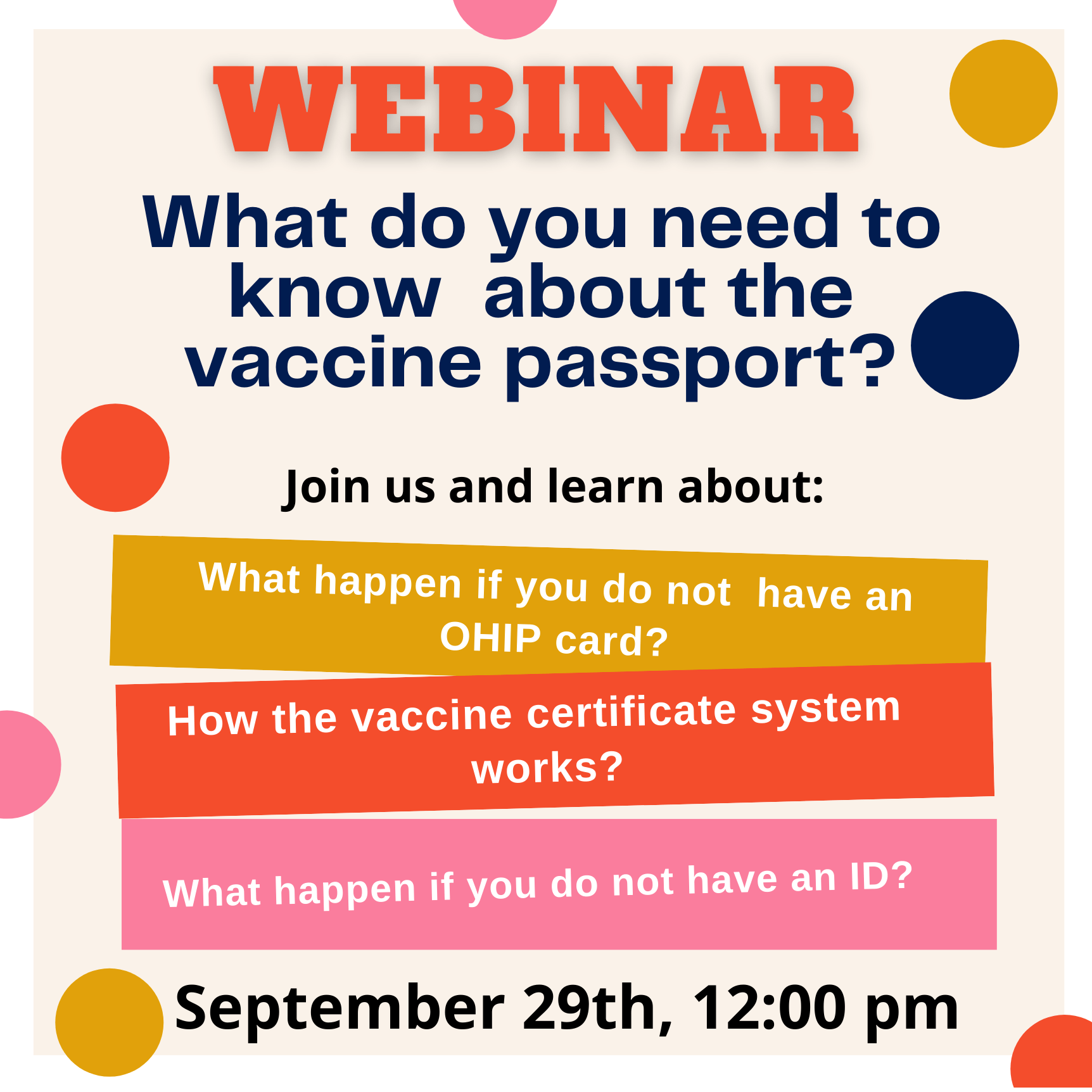 Webinar: What do you need to know  about the vaccine passport? (English and Spanish)