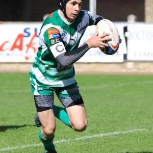 Lucas Cuellar qui cour - rugby lézignan corbières