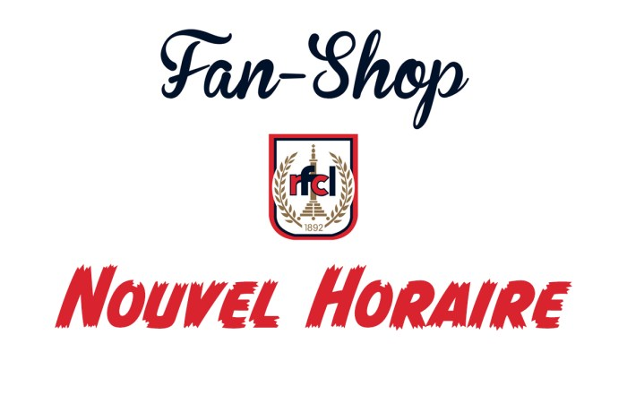 Modification Horaire au Fanshop