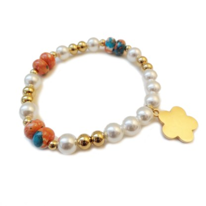 Bracelet-Flower-Glass-Pearl-2