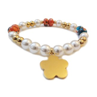 Bracelet-Flower-Glass-Pearl