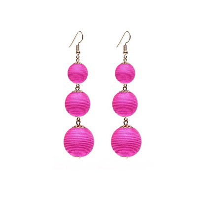 Drop Earring Silk Pearl - Pink