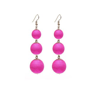 Drop Earring Silk Pearl - Pink