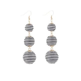 Drop Earring Silk Pearl - Whiteblack