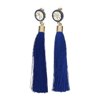 Fashion Cotton Cord Earrings - Blue