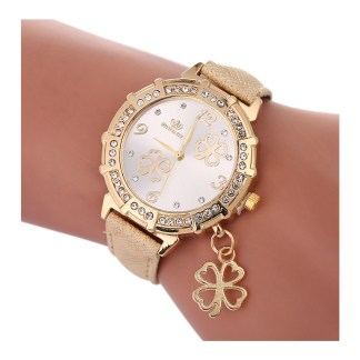 Four leaf clover watch - gold
