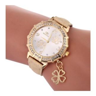 Four leaf clover watch - gold