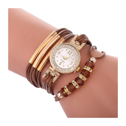 Leather Watch Bracelet Leather - Brown