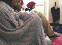 Students at George Mason University pray during the Holy Month of Ramadan (Photo: Fatima Rahman)