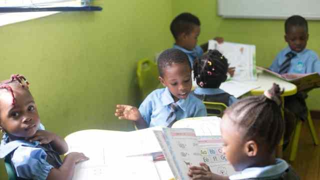 Franklin Comprehensive School nursery-pupils