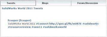 1st SolidWorks World 2011 Connect Tweet