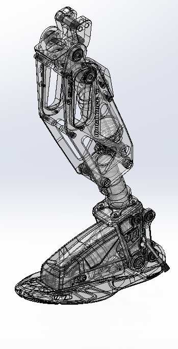 SOLIDWORKS X-ray Vision with transparency