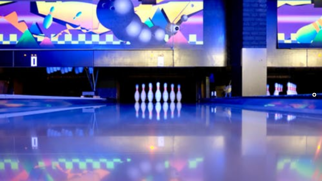 bowling set on the ground
