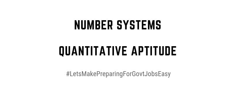 Number Systems QuantitativeAptitude