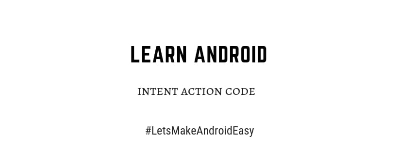 intent action java source code snippets