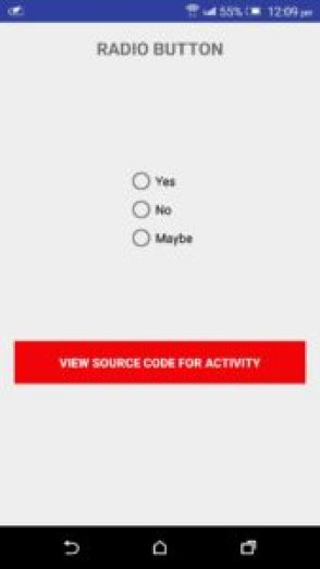 Android Radio button snippet java code download