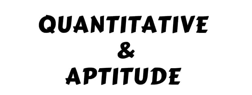 Aptitude pdf quicker quantitative with methods