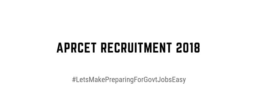 Aprcet recruitment 2018