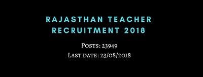 rajasthan recruitment for teachers 2018