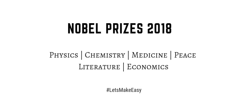 list of Nobel prizes 2018 PDF download winners