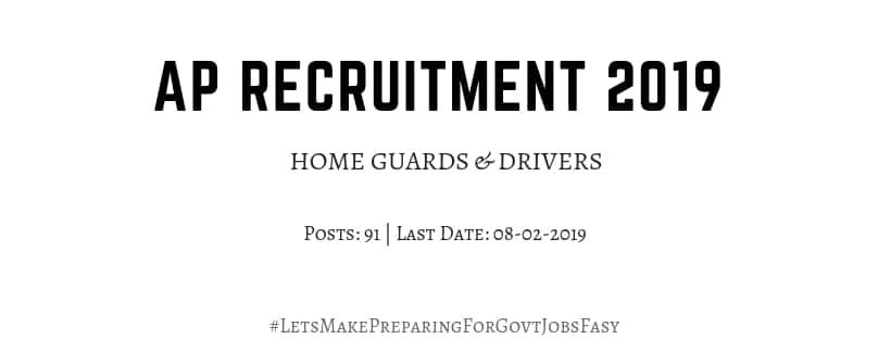 AP Home Guard drivers Recruitment 2019