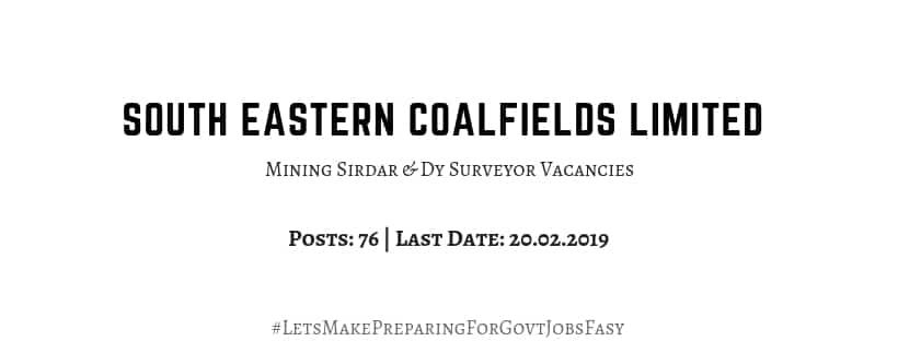 SECL Recruitment 2019