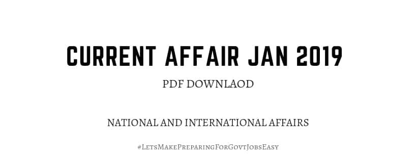 current affairs jan 2019 pdf download
